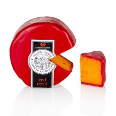 Snowdonia - Red Devil, Leicester Käse, mit Pfeffer & Chili, roter Wachs, 200 g